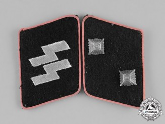 Germany. A Set of Waffen-SS Panzer Oberscharführer Collar Tabs