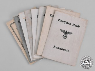 Germany, Third Reich. A Lot of Eight Third Reich Period Civil Identification Cards