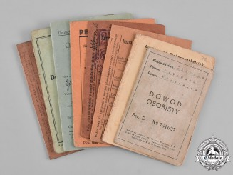 Germany, Third Reich. A Lot of Polish Identification Documents