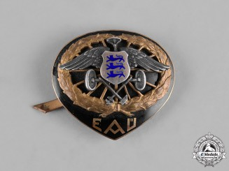 Estonia. An Estonian Automobile Club (EAÜ) Cap Badge, by Roman Tavast