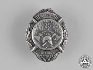 Estonia, Republic. A Tallin Fire Bridge 75th Anniversary Badge, by Roman Tavast