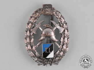 Estonia, Republic. An Estonian Fire Services Badge
