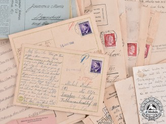 Germany, Third Reich. A Large Group of Second War Period Camp Correspondence