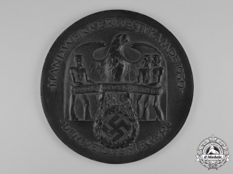 Germany, Third Reich. A 1939 Victor's Plaque for Craftsmen's Competition by Hüttenamt Gleiwitz
