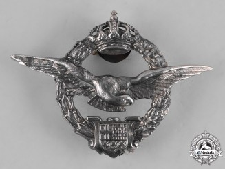 Yugoslavia, Kingdom. A Royal Army Air Service Pilot Badge, by Sorlini Varazdin