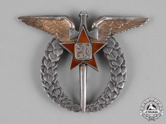 Czechoslovakia, Socialist Republic. CSSR Czechoslovak Air Force Pilot Badge c.1950