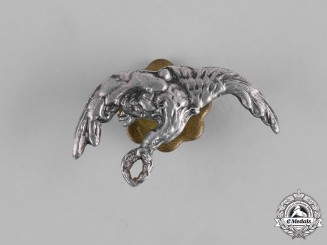 Poland, Republic. A Miniature Pilot Badge in Silver