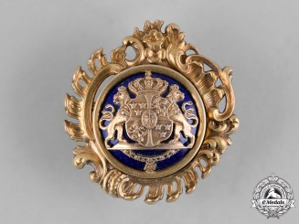 Sweden, Kingdom. An Ornate Royal Coat-of-Arms Brooch, by Sporrong of Stockholm
