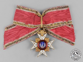 Hohenlohe, Principality. A House Order of the Golden Flame in Gold, I Class Knight, c.1790