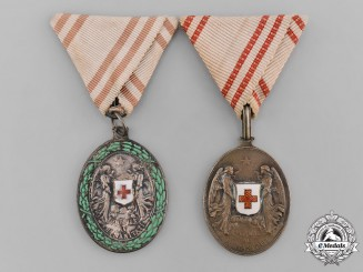 Austria, Imperial. A Pair of Red Cross Silver Medals