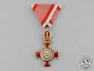 Austria, Imperial. An 1849 Merit Cross, I Class, by Wilhelm Kunz