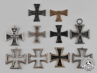 German, Imperial. A Lot of Iron Cross Frames and Cores