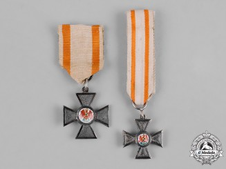 Prussia, State. A Pair of Miniature Orders of the Red Eagle, IV Class Crosses