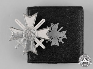 Germany, Wehrmacht. A Cased War Merit Cross, I Class with Swords, by B.H. Mayer