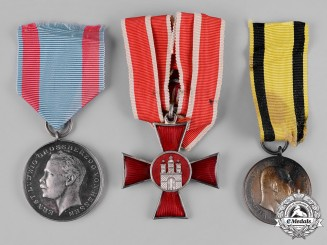 Germany, Imperial. A Lot of Three Bravery Medals