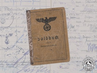 Germany, Heer. A Soldbuch to Stabsgefreiter Jakob Haas