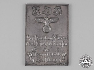 Germany, Third Reich. A Kennel Club (RDH) Merit Plaque by Meyer & Wilhelm