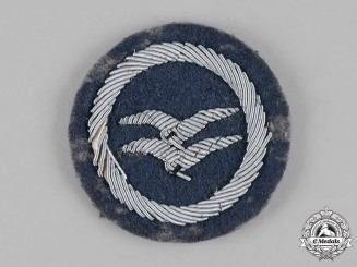 Germany, HJ. A Class B Glider Badge, Cloth Version