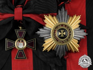 Russia, Imperial. An Order of Saint Vladimir, I Class Sash Badge and Breast Star (Collectors Copy)