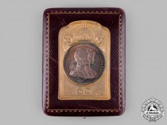 Germany, Prussia. A King Wilhelm II & Augusta Victoria Sixtieth Jubilee Plaque