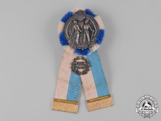 Germany, Weimar. A Bavarian Regimental 25th Anniversary Reunion Badge by Gustav Deschler