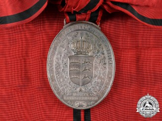 Württemberg, Kingdom. A Franco-Prussian War Veteran's Flag Medal
