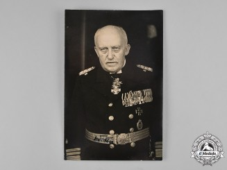Germany, Imperial. A Signed Postcard-Style Photograph of Admiral Adolf von Trotha