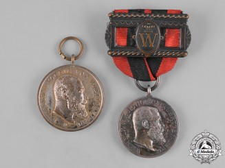 Württemberg, Kingdom. A Pair of Merit Medals