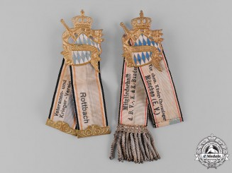 Bavaria, Kingdom. A Pair of Bavarian Veterans Association Badges