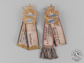 Bavaria, Kingdom. A Pair of Bavarian Veterans Association Badges