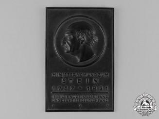 Germany, Third Reich. A Baron vom Stein Plaque, by Hüttenamt Gleiwitz