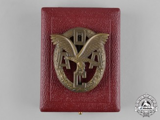 Germany, ADAC. A German Automobile Club (ADAC) Sports Badge, with Case, by E. Ferdinand Wiedmann