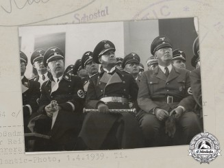 Germany. A Prewar Photo Depicting Großadmiral Erich Raeder and Reichsführer-SS Heinrich Himmler