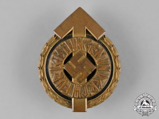 Germany, HJ. A Numbered Leader's Sports Badge, by Gustav Brehmer