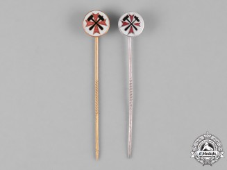 Germany, Third Reich. A Pair of Mine Rescue Service Stick Pins