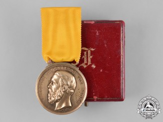 Baden, Grand Duchy. A Golden Merit Medal, with Case, c.1875
