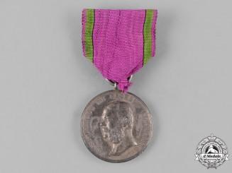 Saxe-Altenburg, Duchy. A House Order Silver Merit Medal by F. Helfricht
