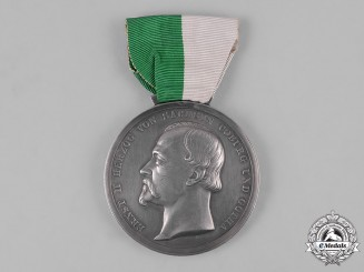Saxe-Coburg and Gotha, Kingdom. A Duke Ernst Medal, Silver Grade, by L. Christian Lauer