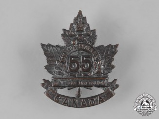 "Canada, CEF. A 55th Infantry Battalion ""New Brunswick/P.E.I. Battalion"" Cap Badge, c.1915"