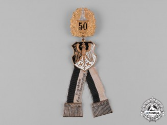 Germany, Weimar Republic. A Prussian Veterans Association 50-Year Membership Badge