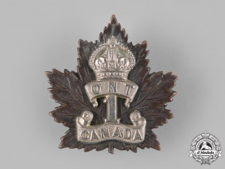 "Canada, CEF. A 1st Infantry Battalion ""Ontario Regiment"" Cap Badge"