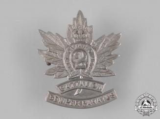 "Canada, CEF. A 2nd Infantry Battalion ""Eastern Ontario Regiment"" Cap Badge, c,1914"