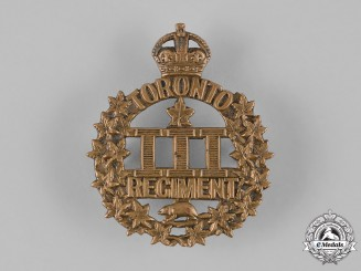 "Canada, CEF. A 3rd Infantry Battalion ""Toronto Regiment"" Cap Badge, by Gaunt, c.1914"