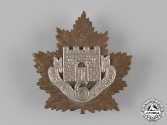 """Canada, CEF. A 6th Infantry Battalion """"Fort Garry Horse"""" Cap Badge"""