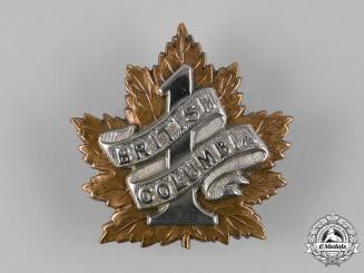 """Canada, CEF. A 7th Infantry Battalion """"1st British Columbia Regiment"""" Cap Badge, c.1914"""
