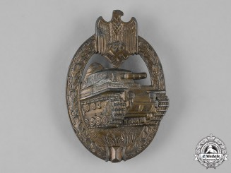Germany, Wehrmacht. A Panzer Assault Badge, Bronze Grade, by Adolf Schwerdt