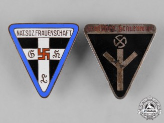 Germany, NS-Frauenschaft. A Pair of National Socialist Women's League (NS-Frauenschaft) Membership Badges
