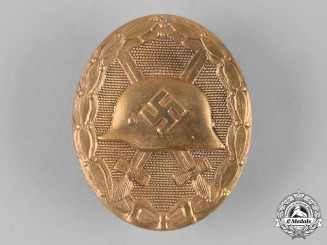 Germany, Wehrmacht. A Wound Badge, Gold Grade, by the Vienna Mint