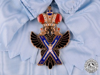 Russia, Imperial. An Order of Saint Andrew, I Class, House of Romanov in Exile, c.1965