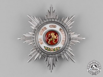 Baden, Duchy. An Order of the Zähringer Lion, Grand Cross Star with Brilliants, c.1880